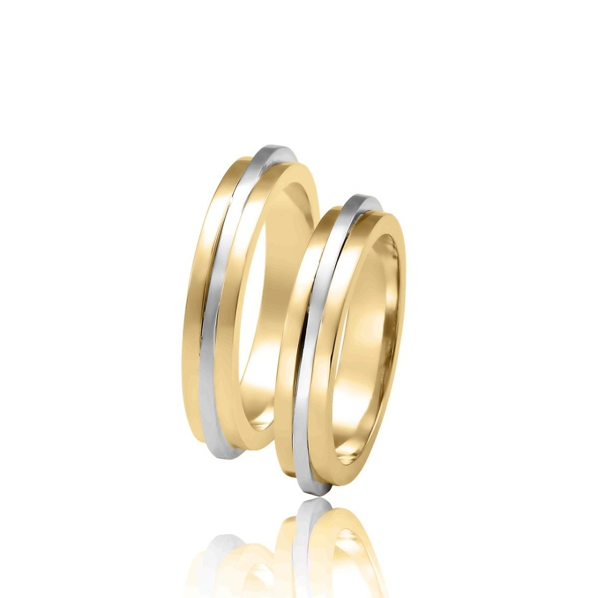 FaCad'oro WR-35 14ct Gold Wedding Rings - Goldy Jewelry Store