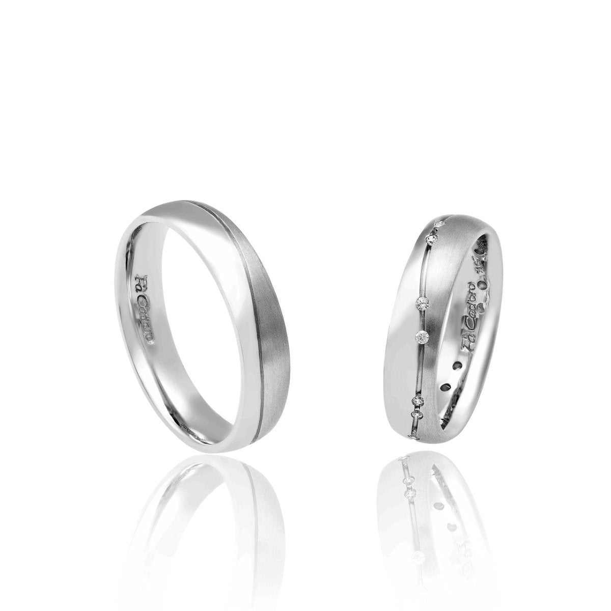 FaCad'oro WR-37 14ct Gold Wedding Rings - Goldy Jewelry Store