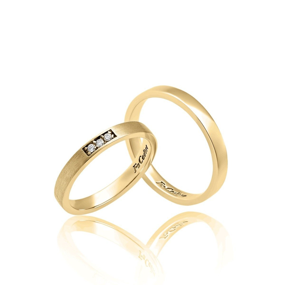 FaCad'oro WR-39 14ct Gold Wedding Rings - Goldy Jewelry Store