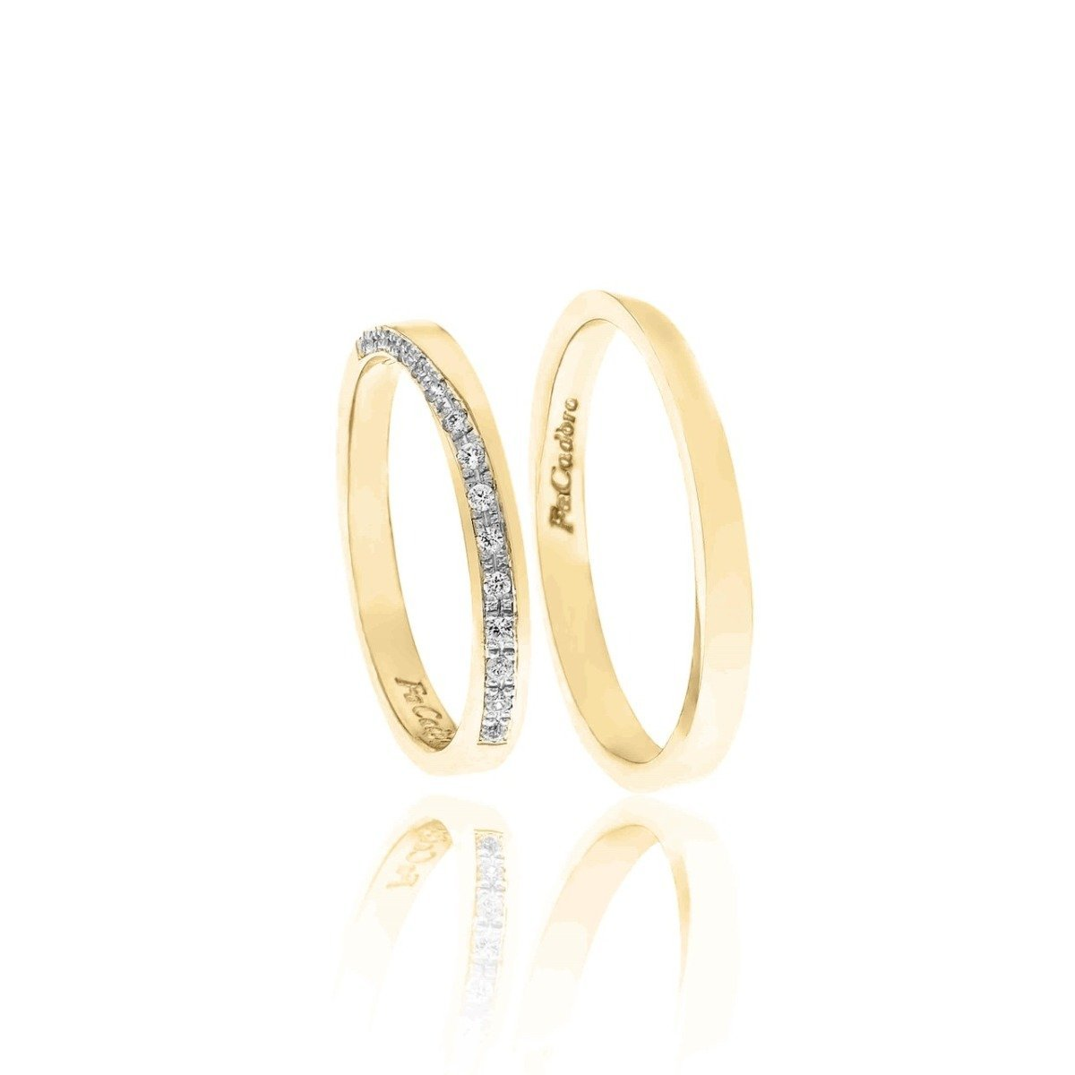 FaCad'oro WR-43 14ct Gold Wedding Ring - Goldy Jewelry Store