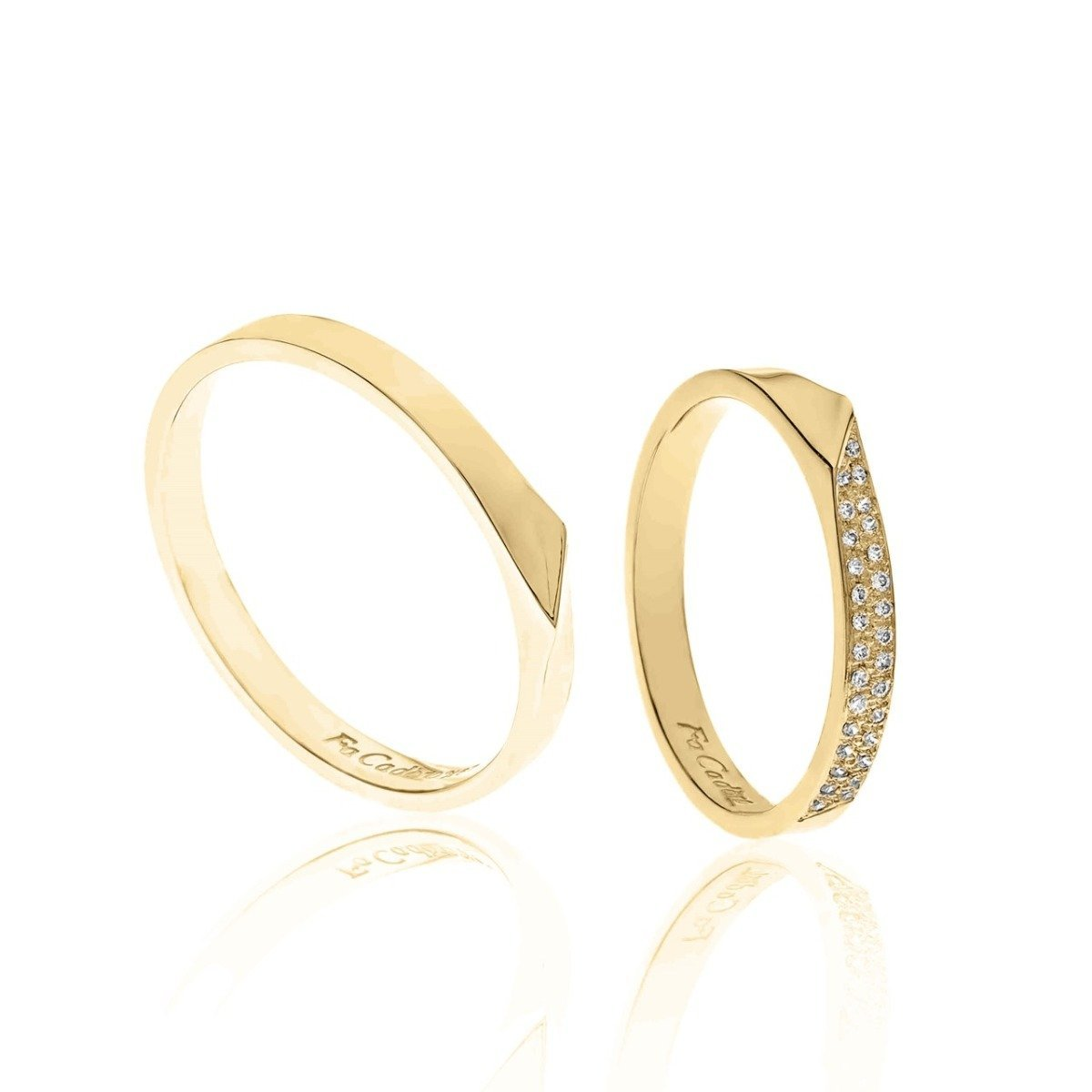 FaCad'oro WR-46 14ct Gold Wedding Ring - Goldy Jewelry Store