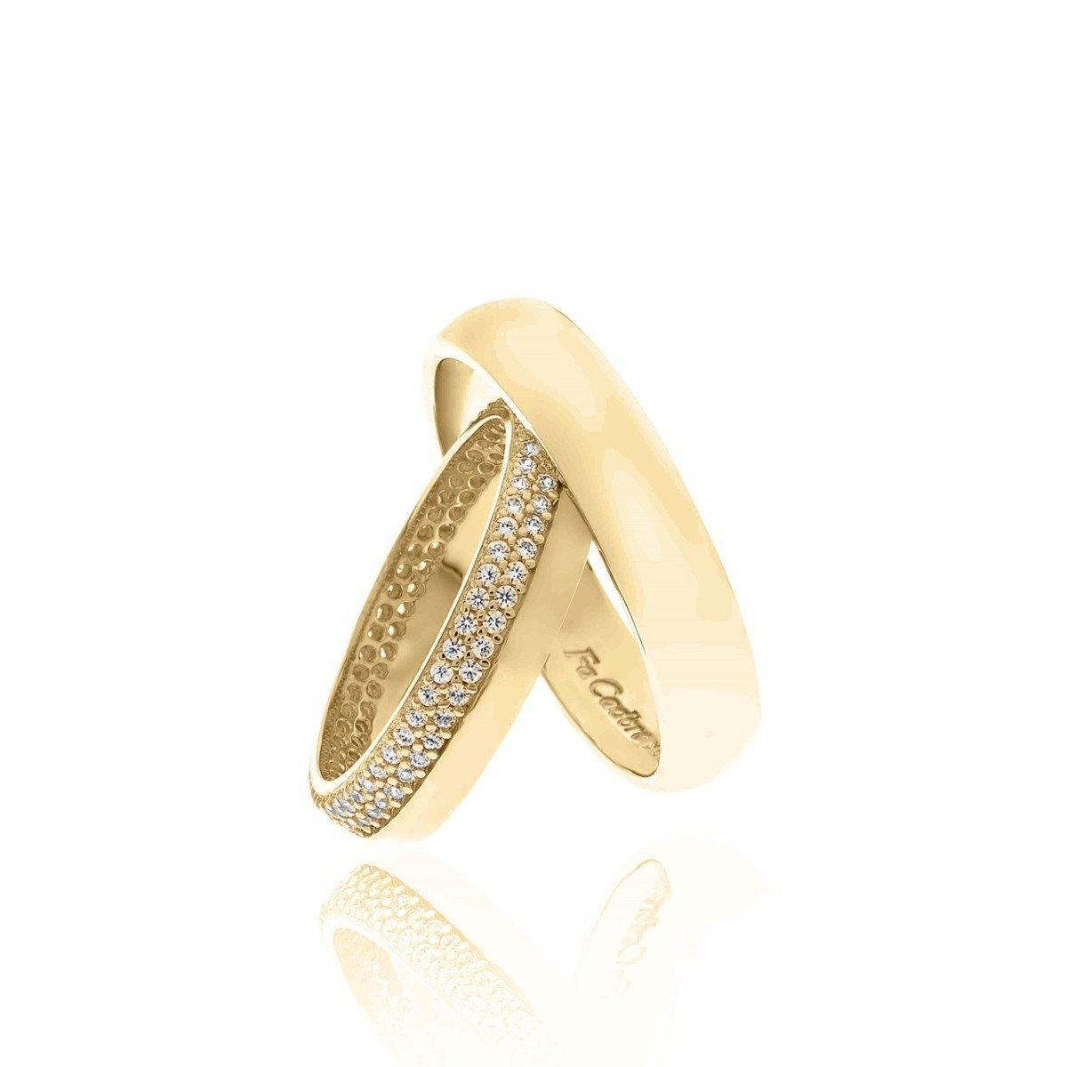 FaCad'oro WR-48 14ct Gold Wedding Ring - Goldy Jewelry Store