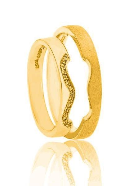 FaCad'oro WR-56 14ct Gold Wedding Ring - Goldy Jewelry Store