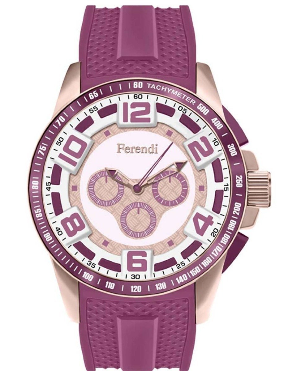 Ferendi 1601-7 Rebel Purple Rubber Strap - Κοσμηματοπωλείο Goldy