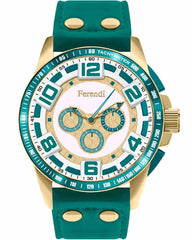 Ferendi 1601-88 Alia Green Leather Strap - Κοσμηματοπωλείο Goldy