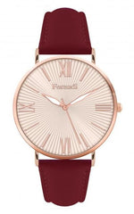 Ferendi 1838-39 Gale Bordeaux Leather Strap - Goldy Jewelry
