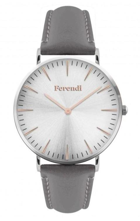 Ferendi 1838G-26 Gale Gray Leather Strap - Goldy Jewelry Store