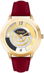 Ferendi 2332-59 Divine Red Leather Strap - Goldy Jewelry