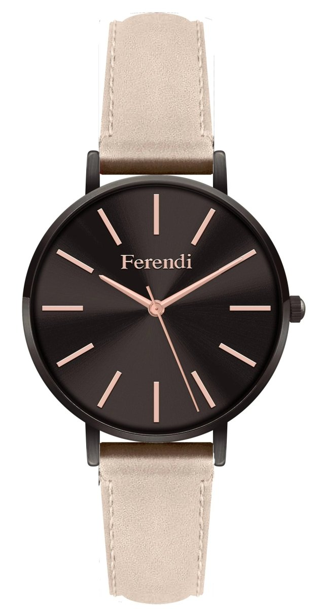 Ferendi 3232-53 Valkyria Beige Leather Strap - Κοσμηματοπωλείο Goldy