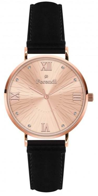Ferendi 3620-11 Harmony Black Leather Strap - Κοσμηματοπωλείο Goldy