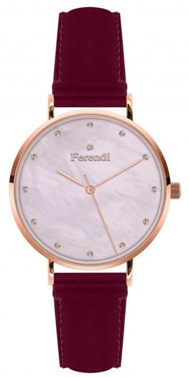 Ferendi 3620-49 Pink Sea Red Leather Strap - Κοσμηματοπωλείο Goldy