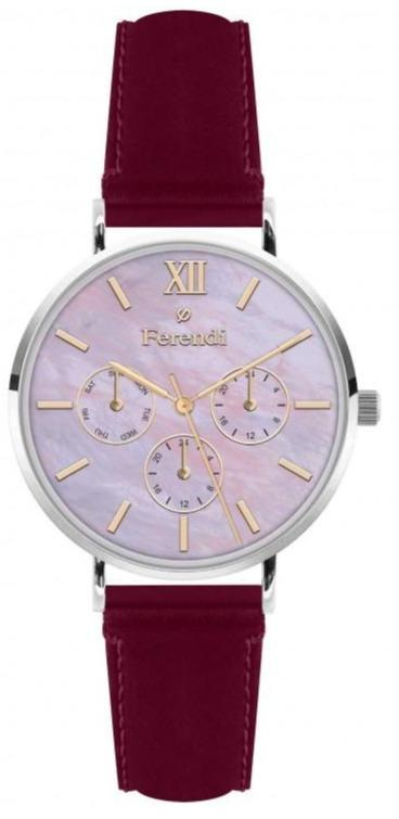 Ferendi 3620-59 Rainbow Red Leather Strap - Goldy Jewelry