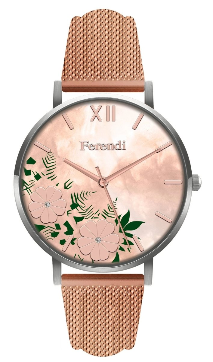 Ferendi 4036S-105 Antheia Rose Gold Stainless Steel Bracelet - Κοσμηματοπωλείο Goldy