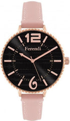 Ferendi 7460R-15 Inaly Pink Leather Strap - Goldy Jewelry