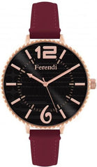 Ferendi 7460R-19 Inaly Bordeaux Leather Strap - Jewelry Goldy