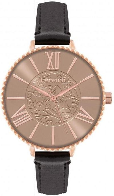 Ferendi 7460R-31 Latin Poetry Black Leather Strap - Jewelry Goldy