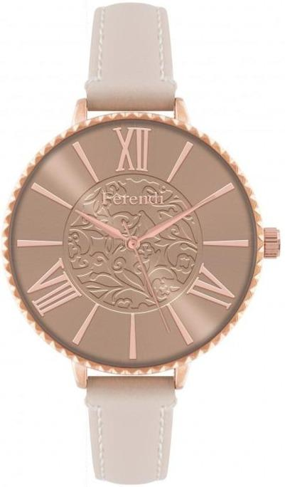 Ferendi 7460R-33 Latin Poetry Beige Leather Strap - Jewelry Goldy