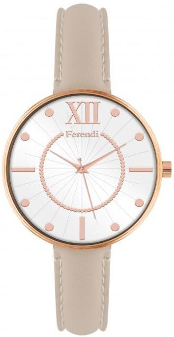 Ferendi 8945-33 Bang Up Beige Leather Strap - Goldy Jewelry