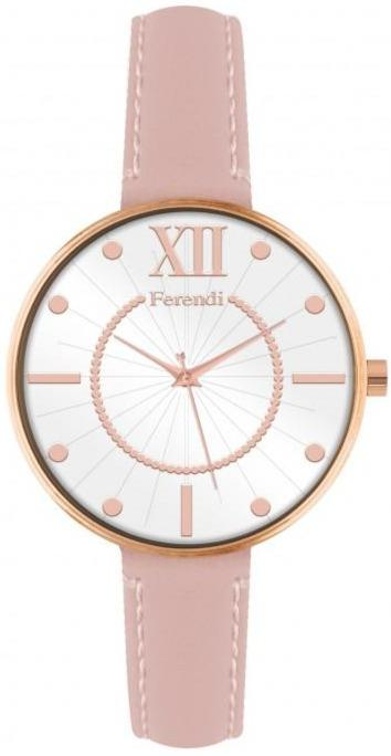Ferendi 8945-35 Bang Up Pink Leather Strap - Goldy Jewelry