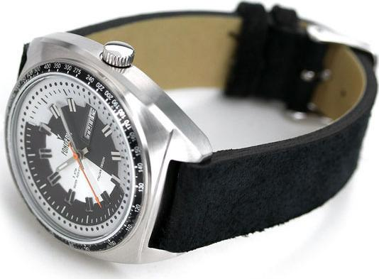 Fonderia 6A004UNS The Gambler Black Leather Strap - Κοσμηματοπωλείο Goldy