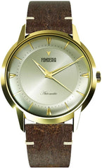 Fonderia P-6G017UCG The Professor II Automatic Brown Leather Strap - Jewelry Goldy