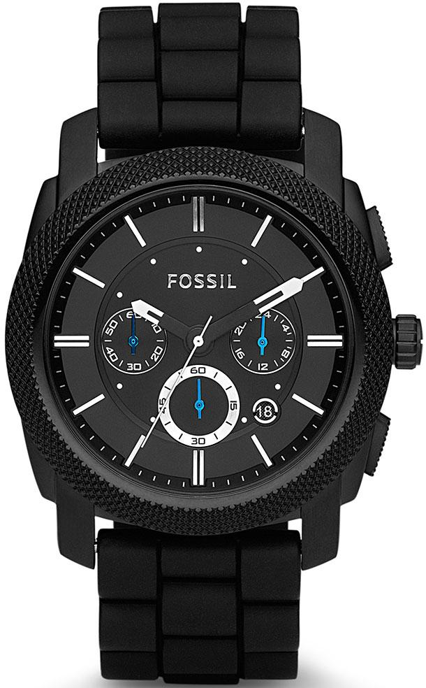 FOSSIL FS4487IE Machine Black Rubber Chronograph - Κοσμηματοπωλείο Goldy