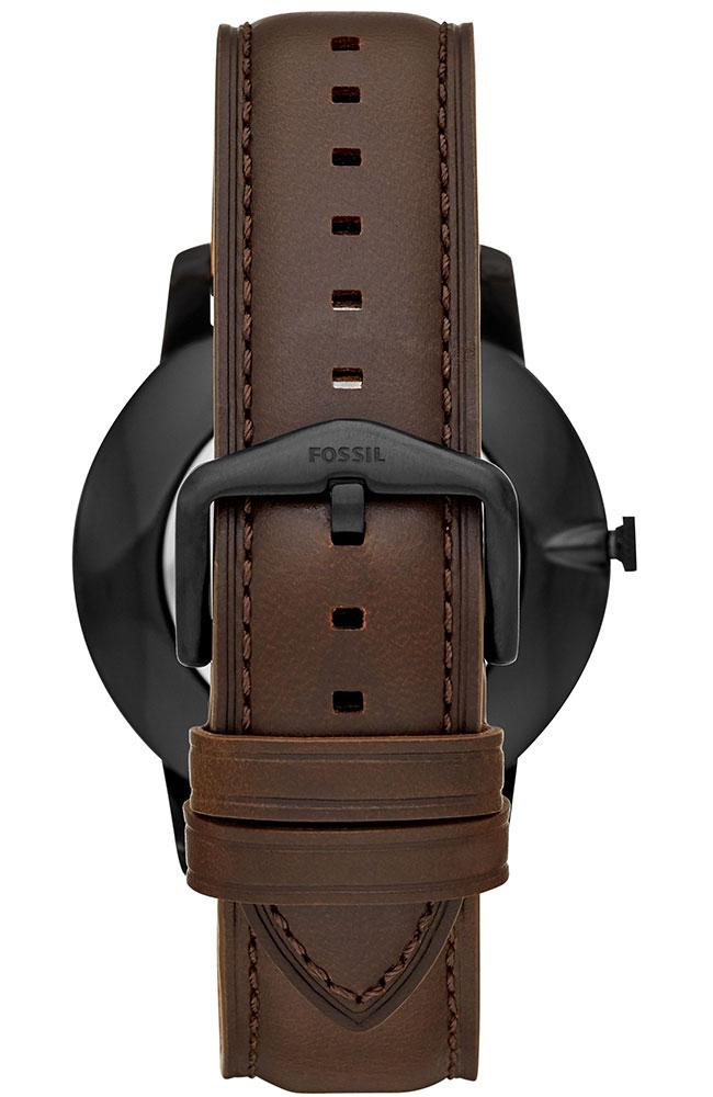 FOSSIL FS5551 Minimalist Brown Leather Strap - Κοσμηματοπωλείο Goldy