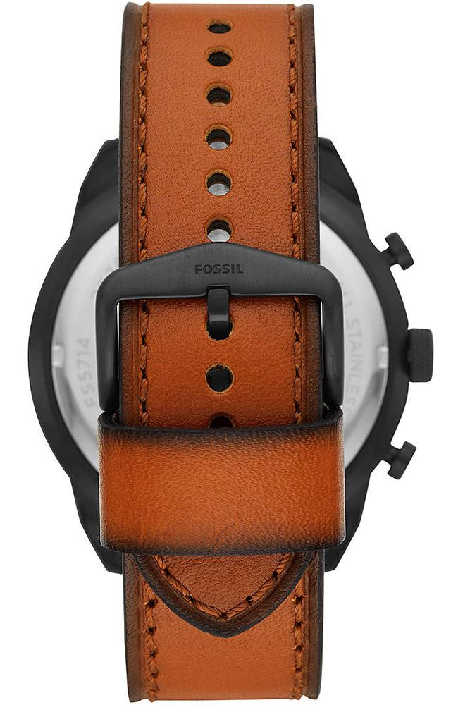 FOSSIL FS5714 Bronson Brown Leather Chronograph - Goldy Jewelry