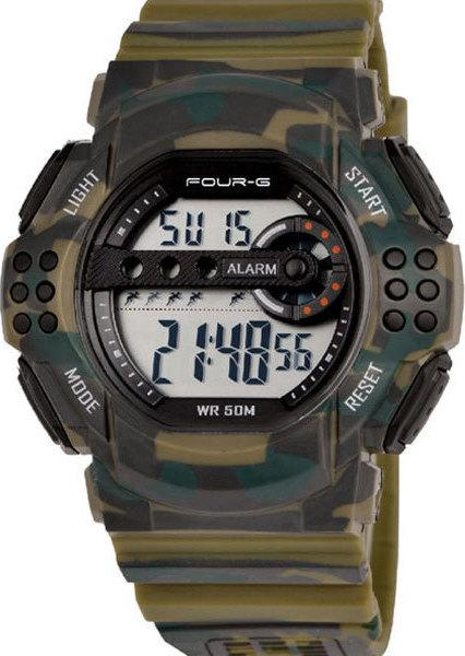 FOUR-G 353G By Jaga Green Camouflage Rubber Strap - Κοσμηματοπωλείο Goldy