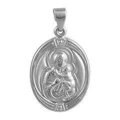 Amulet PD11001W Panagia White Gold K9 - Goldy Jewelry Store