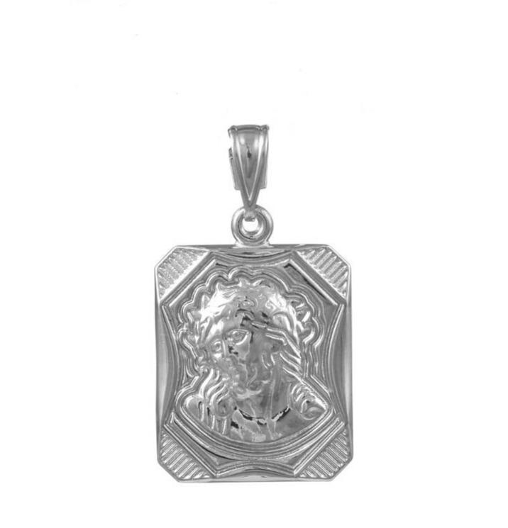 Amulet PD11022W Christ White Gold K9 - Goldy Jewelry Store
