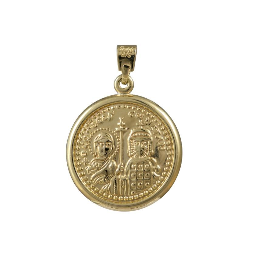 Amulet PD11076-1 Constantine Double Sided Gold K9 - Goldy Jewelry Store