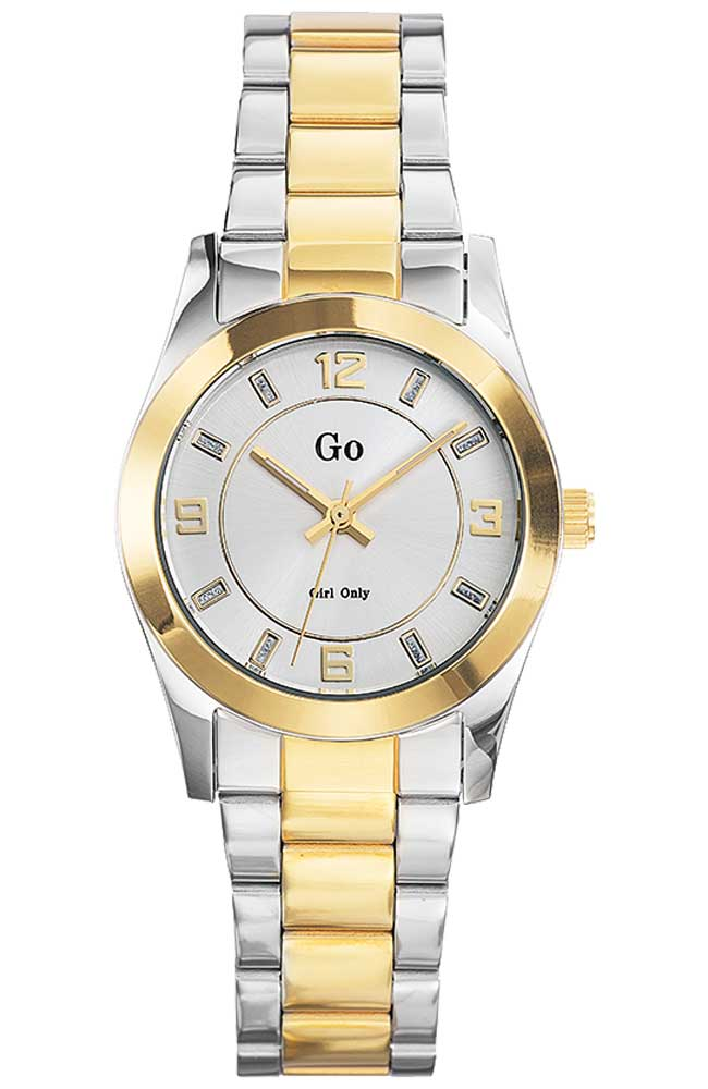 GO Girl Only 694898 Crystals Two Tone Stainless Steel Bracelet - Κοσμηματοπωλείο Goldy