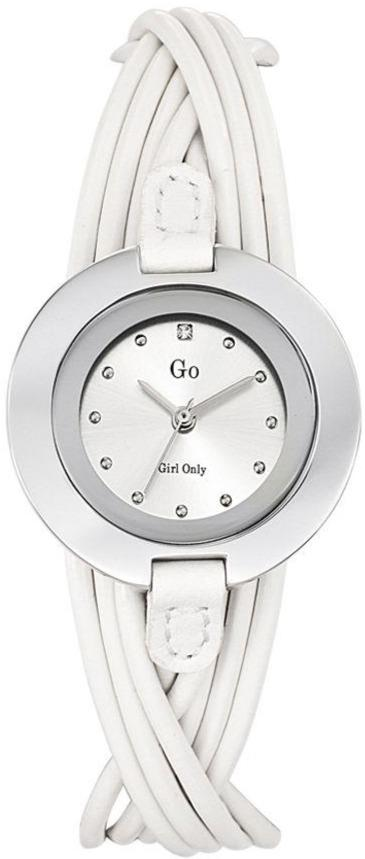 GO Girl Only 698114 Crystals White Leather Strap - Goldy Jewelry