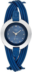 GO Girl Only 698119 Blue Leather Strap - Κοσμηματοπωλείο Goldy