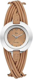 GO Girl Only 698122 Crystal Ladies Brown Leather Strap - Κοσμηματοπωλείο Goldy