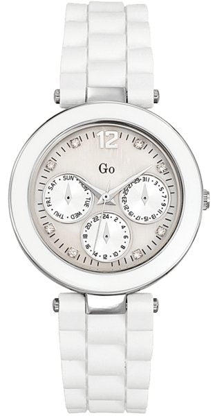 GO Girl Only 698173 White Rubber Strap - Κοσμηματοπωλείο Goldy