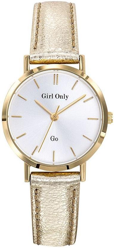 GO Girl Only 699135 Gold Leather Strap - Κοσμηματοπωλείο Goldy