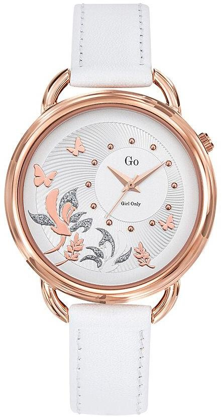 GO Girl Only 699170 White Leather Strap - Κοσμηματοπωλείο Goldy