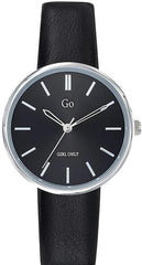 GO Girl Only 699317 Black Leather Strap - Κοσμηματοπωλείο Goldy