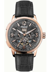 Ingersoll I00302 Regent Automatic Black Leather Strap - Κοσμηματοπωλείο Goldy