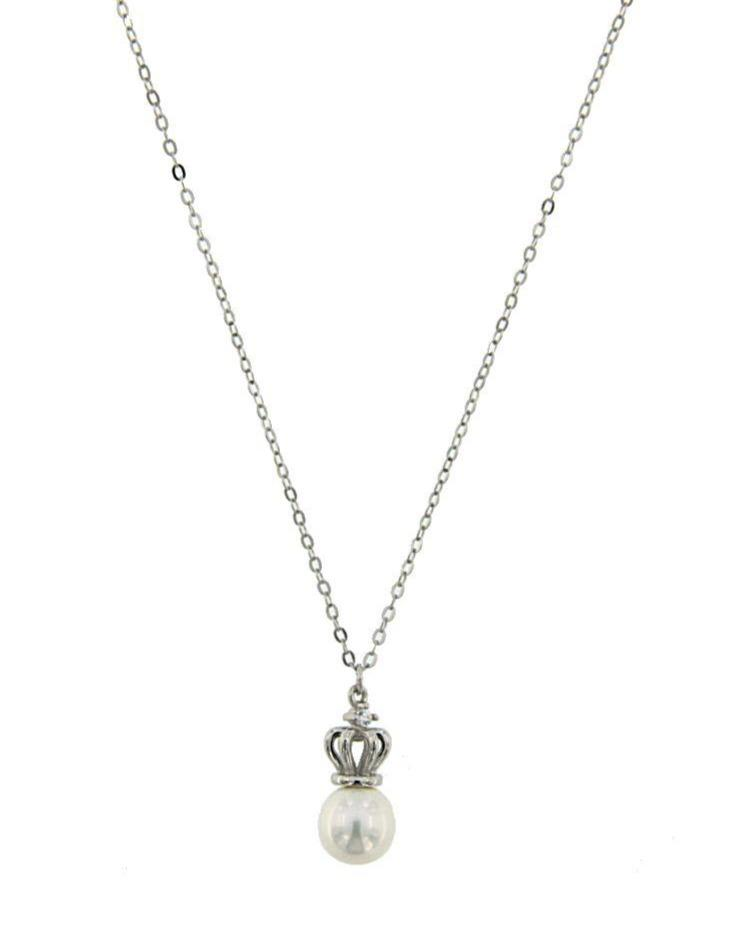 JOOLS CSN5894-1.1 Platinum Sterling Silver Necklace - Goldy Jewelry Store