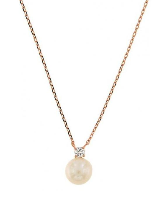 JOOLS SAL2053.2 Necklace with Rose Gold Plated Silver with Pearl - Goldy Jewelry Store