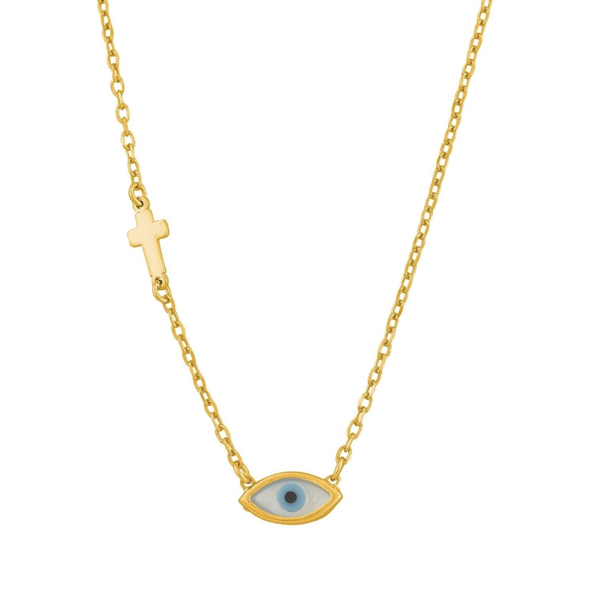 GM382G Gold Plated Silver Necklace - Goldy Jewelry Store