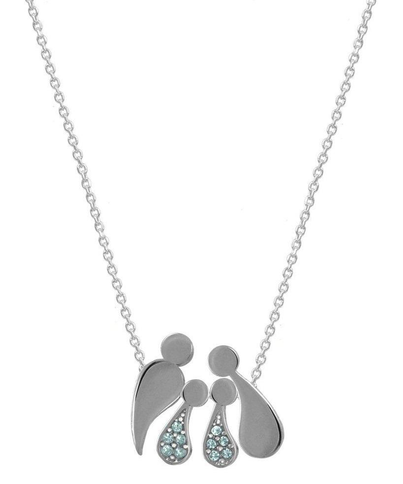 G2000CCW Family Necklace with Platinum Plating and Gold - Jewelry Store Goldy