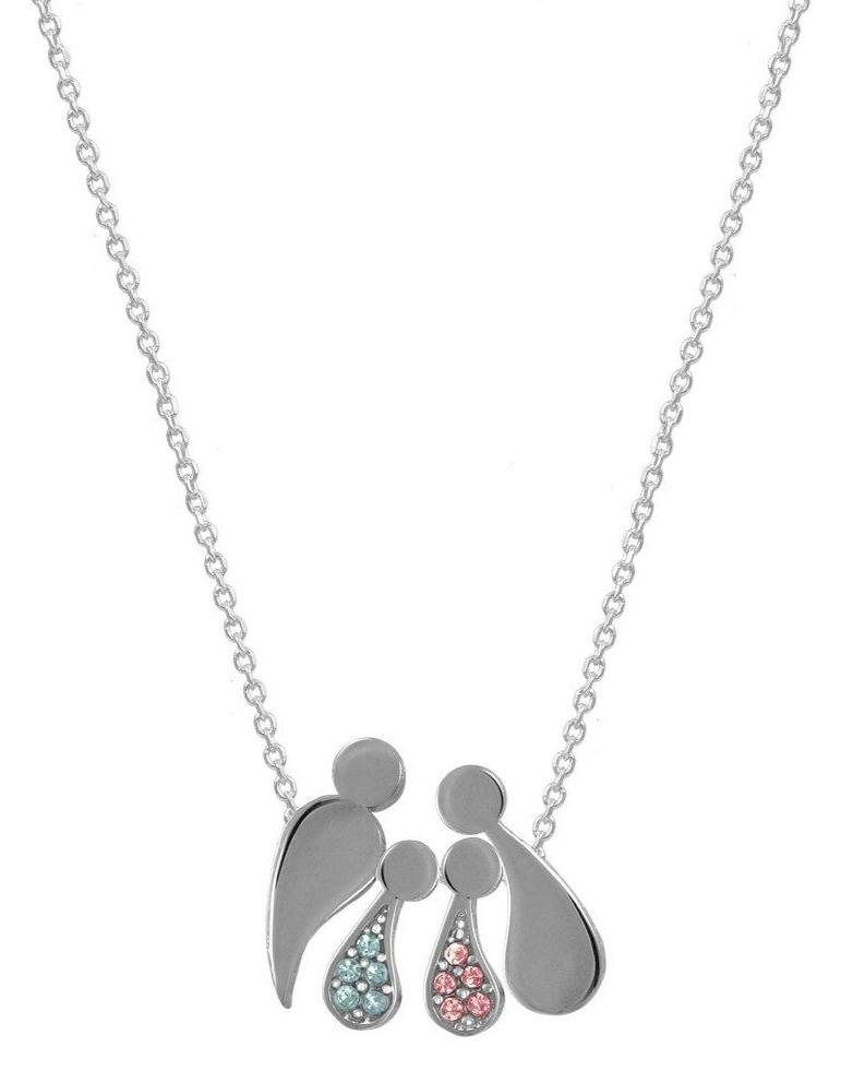G2000CRW Family Necklace with Platinum Plating and Zircon Goldy Jewelry