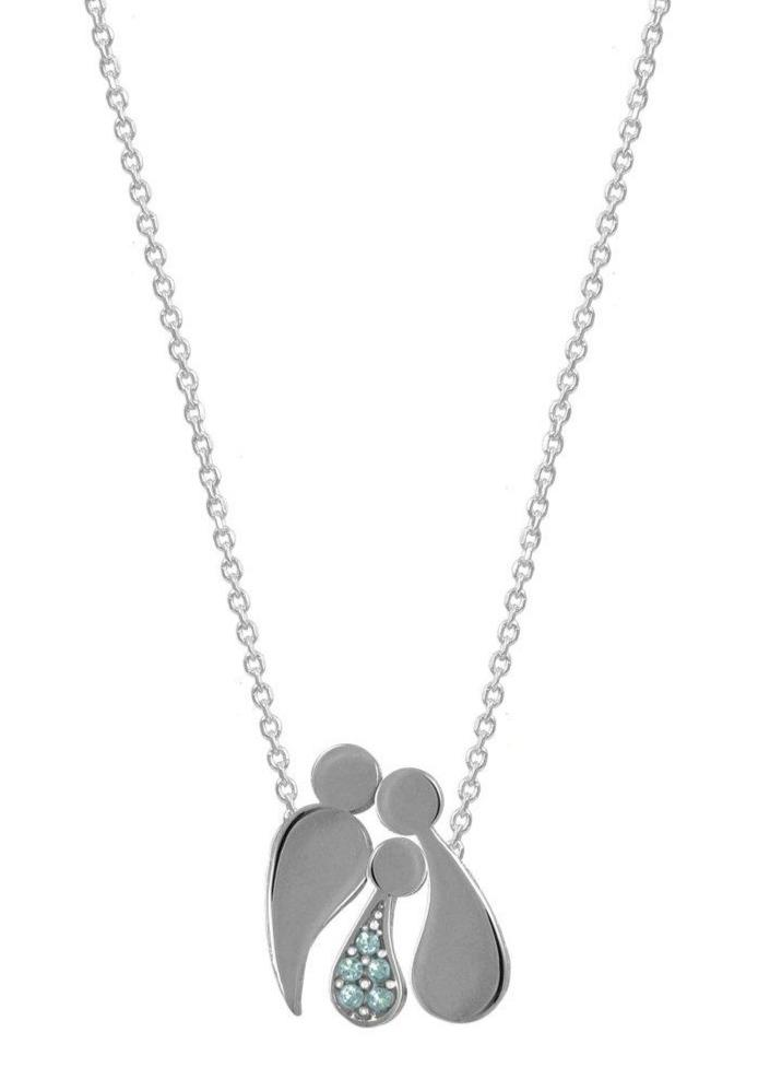 G2000CW Family Necklace With Platinum Plating - Goldy Jewelry Store