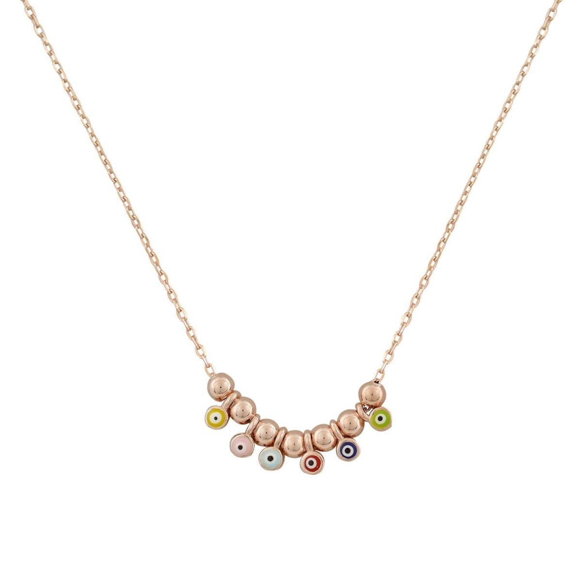 Necklace ZN1404 Eyes Made Of Rose Gold Plated Silver - Goldy Jewelry Store