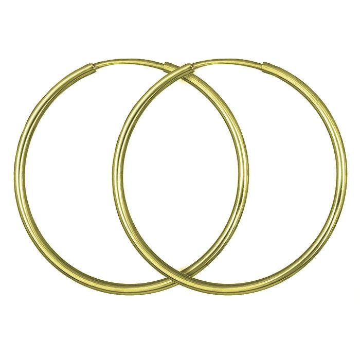 Rings SK103 Earrings Gold 9ct 2.5cm - Goldy Jewelry Store