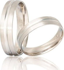 White Gold Wedding Rings S16 Stergiadis - Goldy Jewelry Store